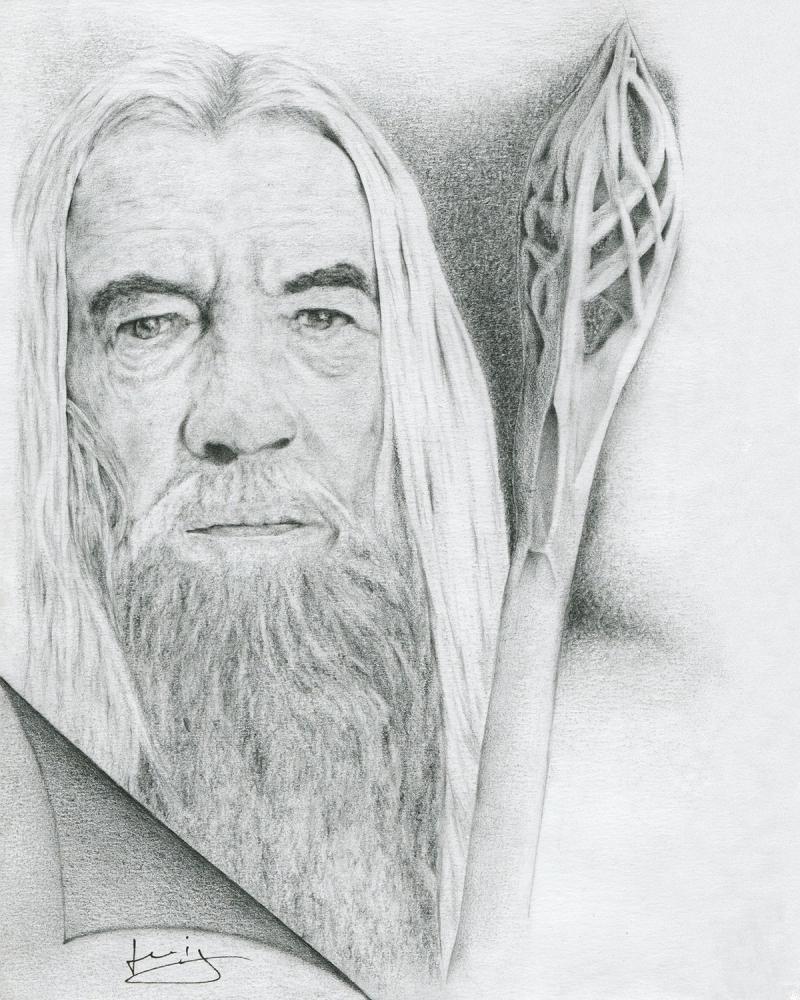 Ian McKellen by portraitemoi